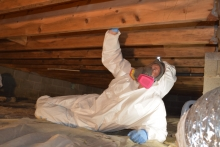 crawl space repair conducted by Total Home Performance on a home in Easton, MD