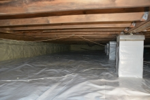 crawlspace encapsulation, total home performance, MD