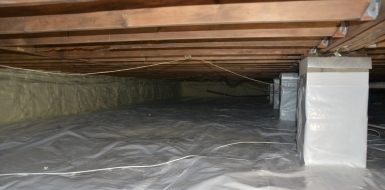 crawl space encapsulation, air sealing, insulation, total home performance