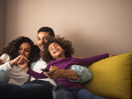 happy family in healthy home