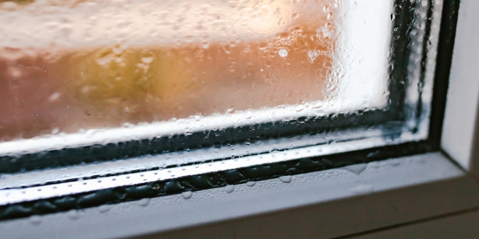humidity condensing on window inside home