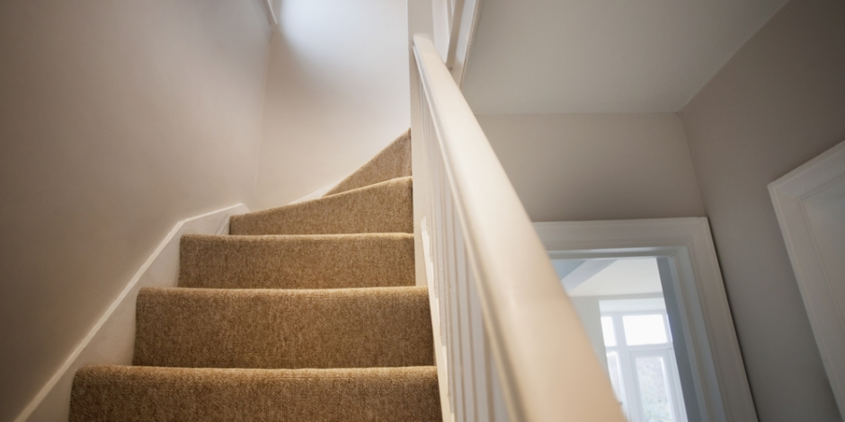 going upstairs to the second floor