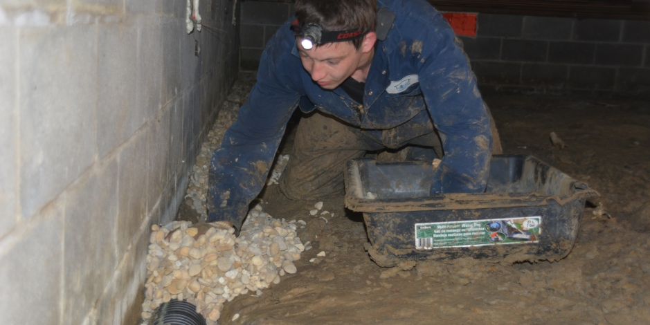 Crawl Space Drainage, Total Home Performance, Easton, MD